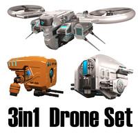 3d model drones settings