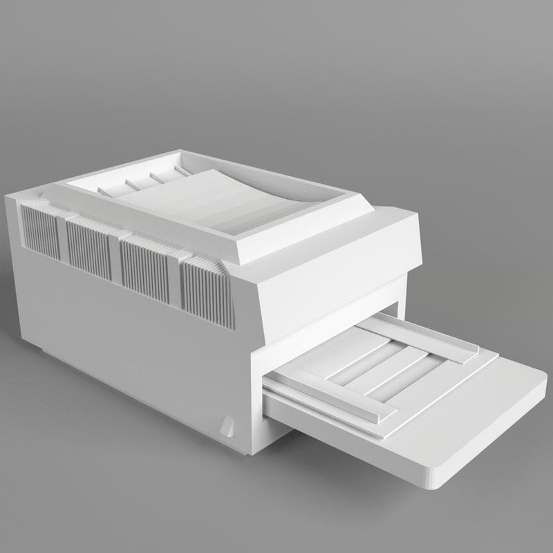 computer printer 2 3d model