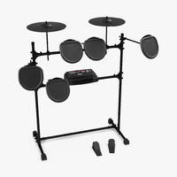professional electric drum kit 3d max