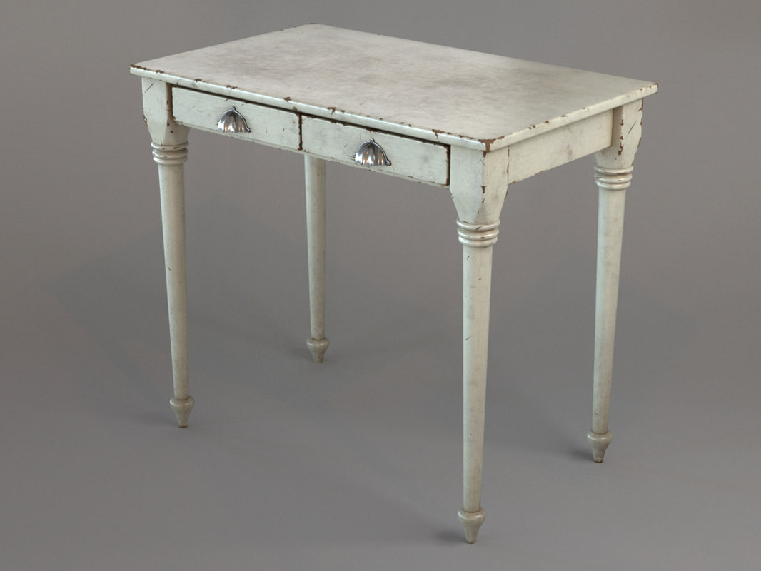 table white 3d model