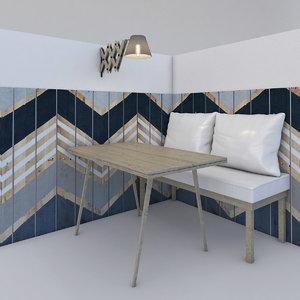 3d model sitting area