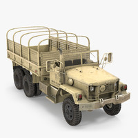 c4d cargo truck m35 desert