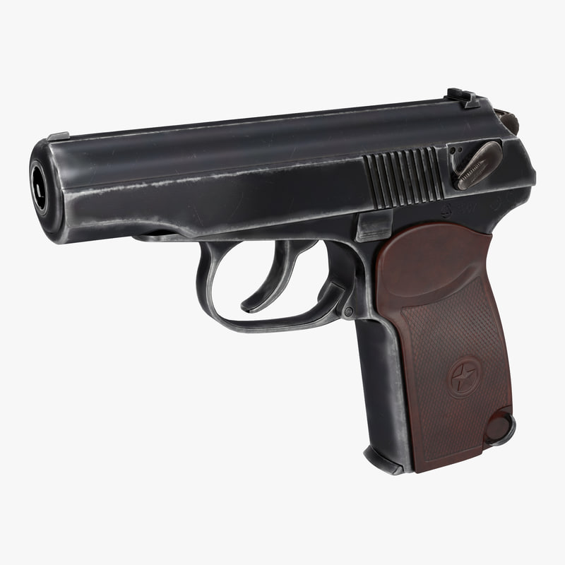 makarov pm pistol 3d model