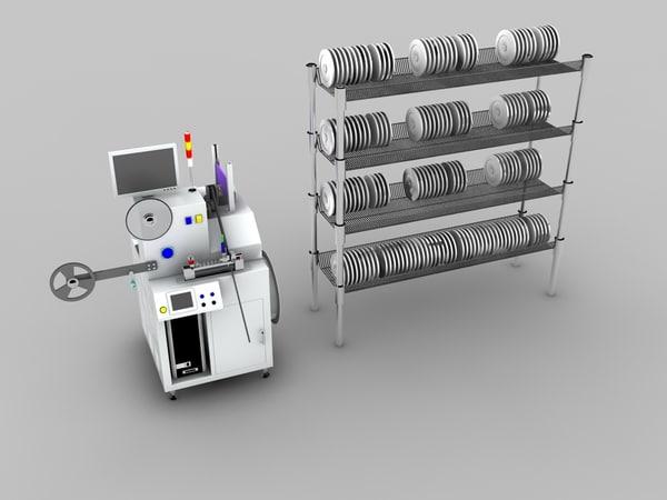tape machine 3d max