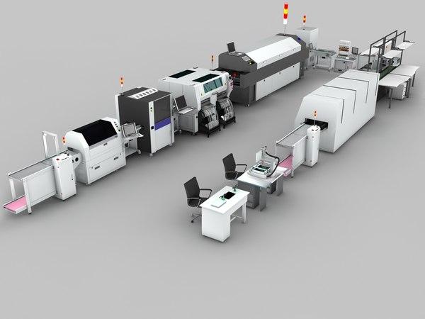 production line 3d max