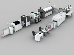 production line 3d max