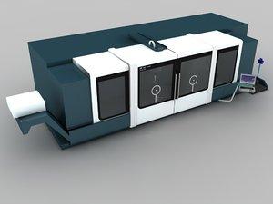milling center 3d max