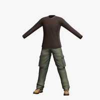3d max mens clothing 7