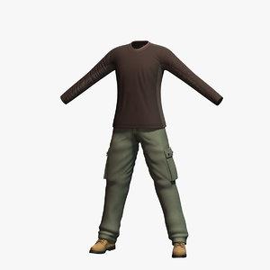 3d max mens clothing 7