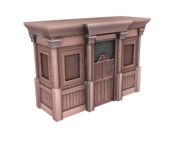 confessional booth 3d max