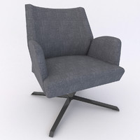 3d model of indoor fauteuil enora