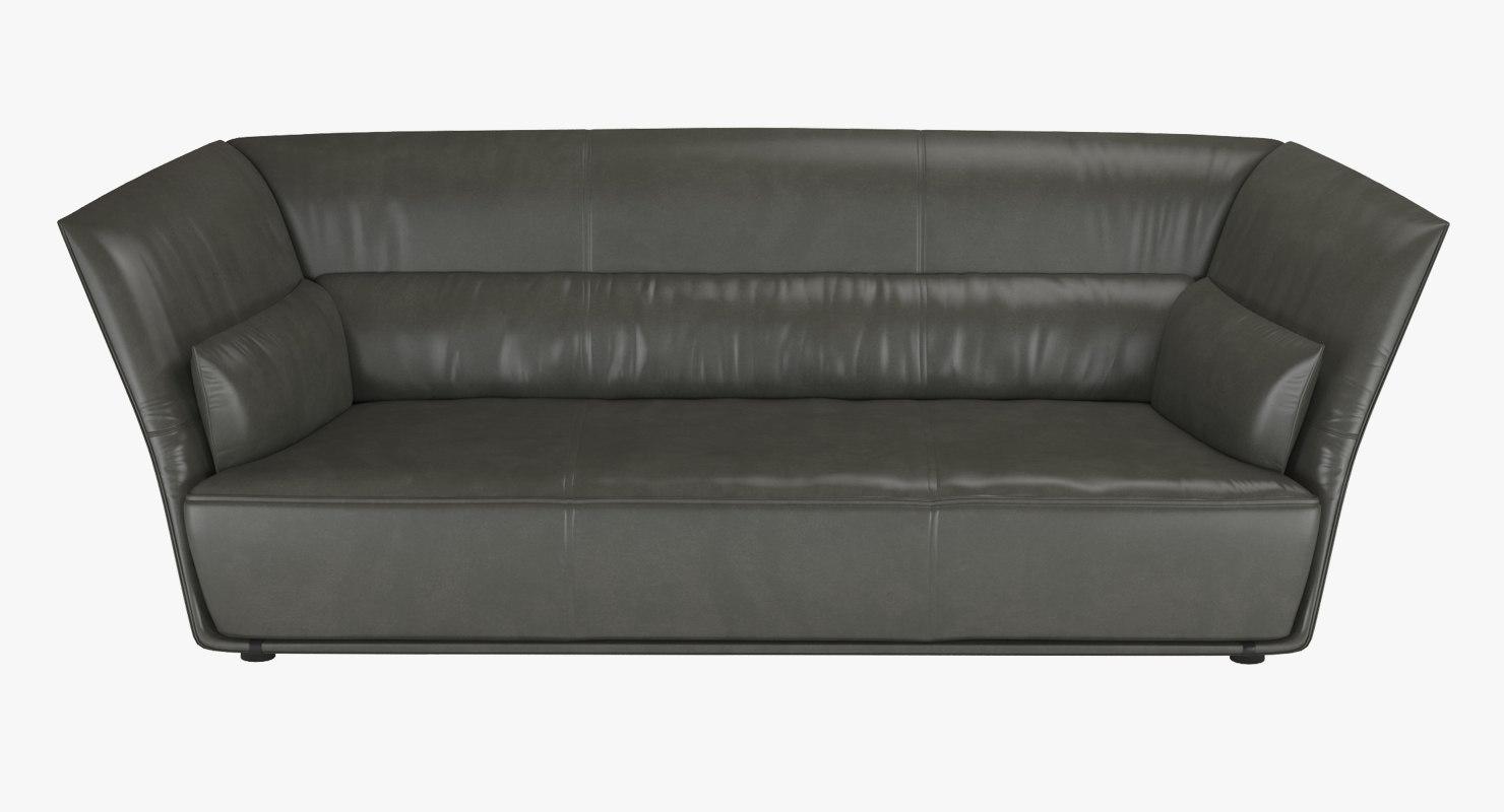 3d sofa almo poltrona frau for Poltrona 3d