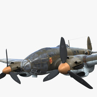 he-111 german bomber 3d model
