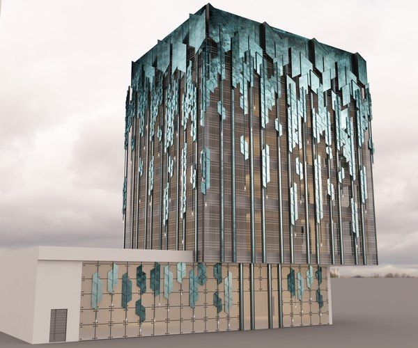 3ds building facade commercial