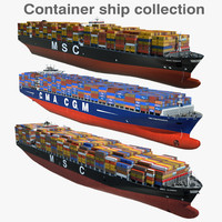 container ships vessels 3d 3ds