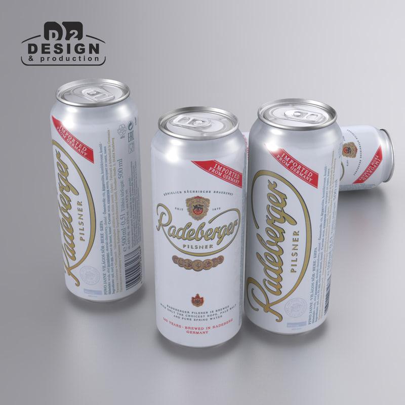 beer radeberger 3d max