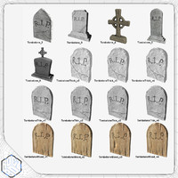 3d model tombstone pack