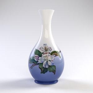 vintage vase royal copenhagen 3d ma