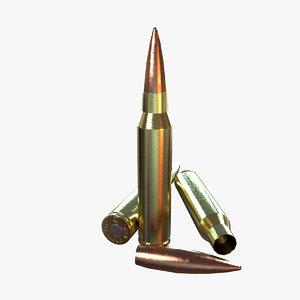3d model bullet 338 lapua