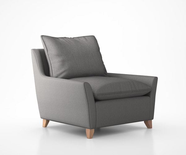 3d max bliss down-filled chair-and-a-half