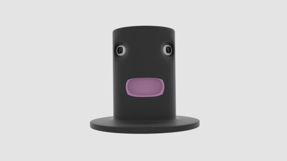 cartoon hat 3d obj