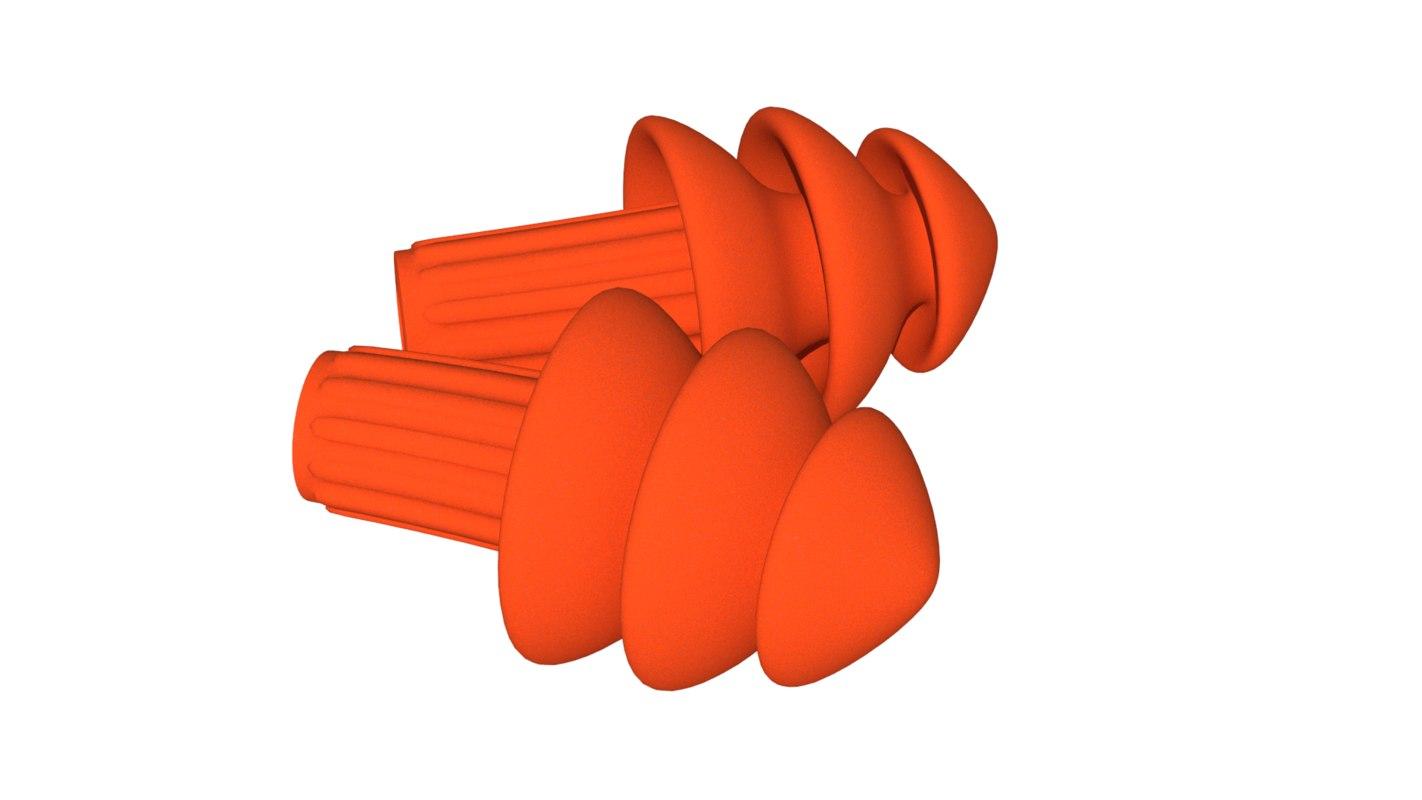 3d model soft foam ear plugs