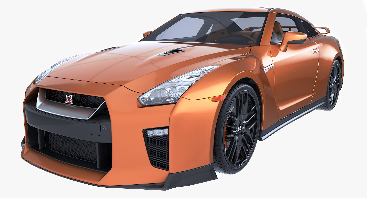 3d model gt-r nissan 2017