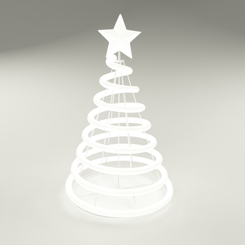 3d modern christmas tree