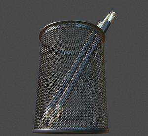 3ds wire mesh pen pencil