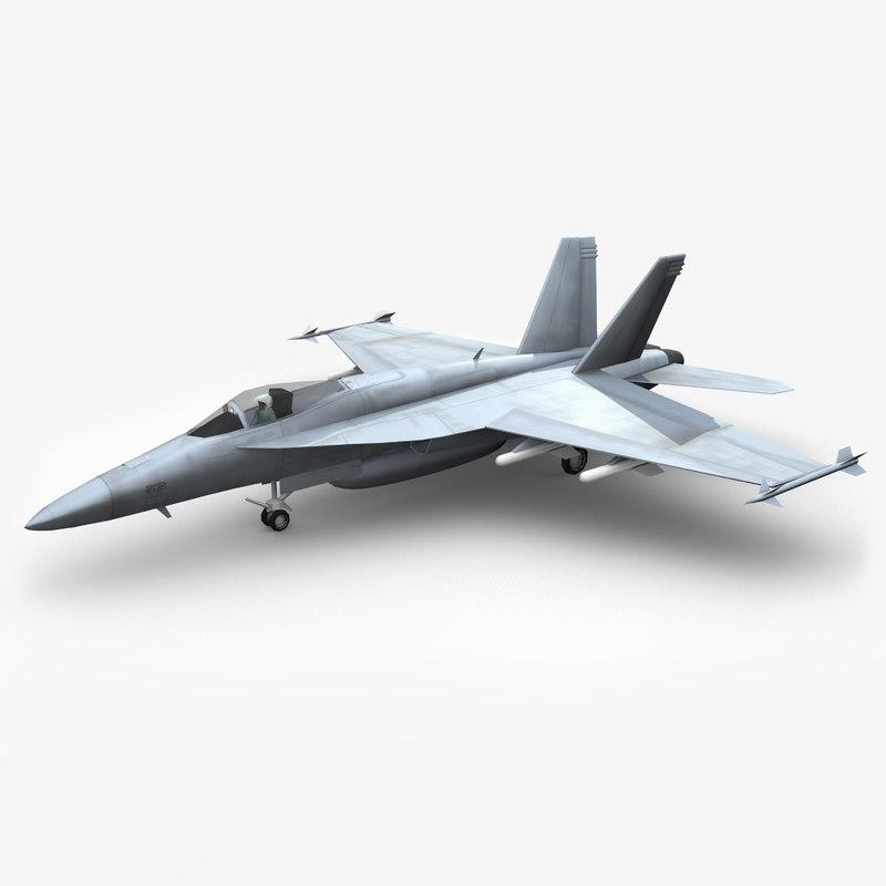 f a-18c hornet 3d model