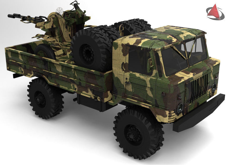 3d tank armored
