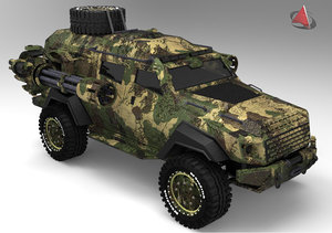 3ds tank armored