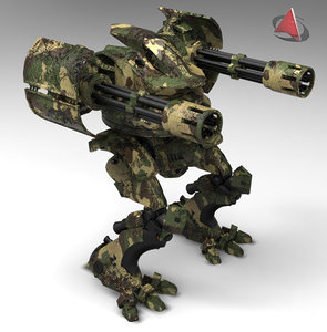 mecha armored 3d 3ds