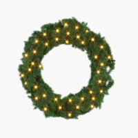 3d decorative christmas wreath