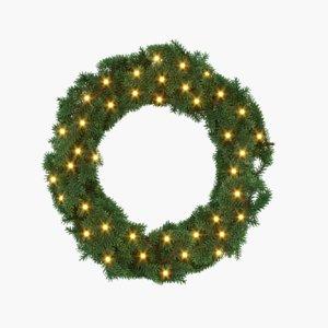 3d decorative christmas wreath