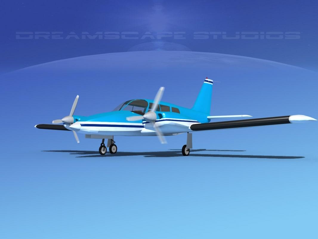 3d model propeller pa-34 seneca