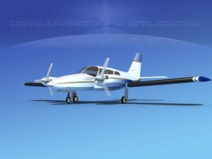 propeller pa-34 seneca 3ds
