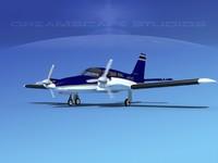 propeller pa-34 seneca 3d dxf