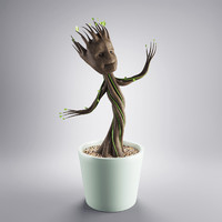 young groot 3d obj