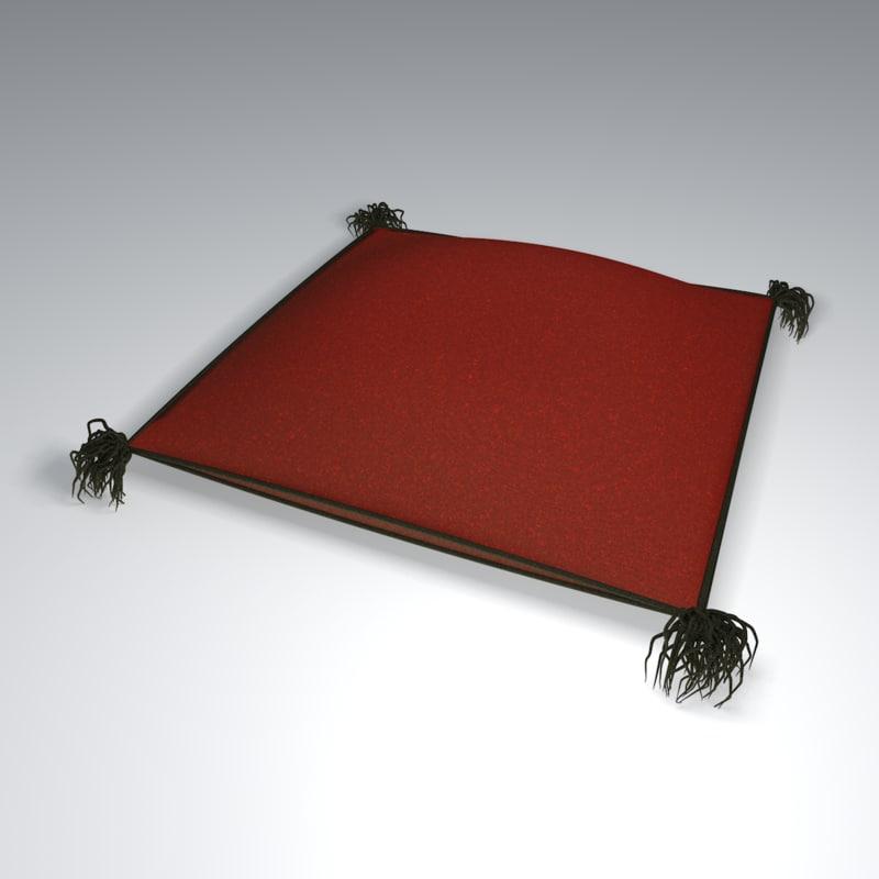 pillow tassels 3d c4d
