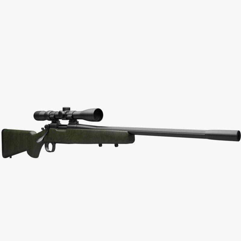 3d model remington 700 xcr