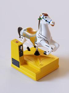 3d park horse machine