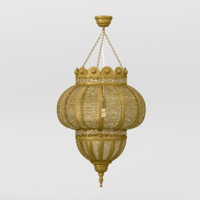 arabic lamp brass obj