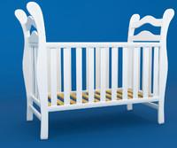 3d model wooden crib -
