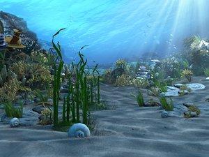 underwater world animation 3d max