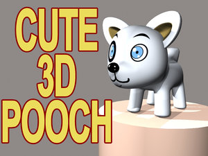 pooch cartoon dog 3d model
