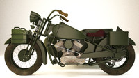 old motorcycle 3d max