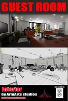 guest room interior 3d max