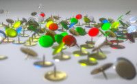 3d model thumbtacks office