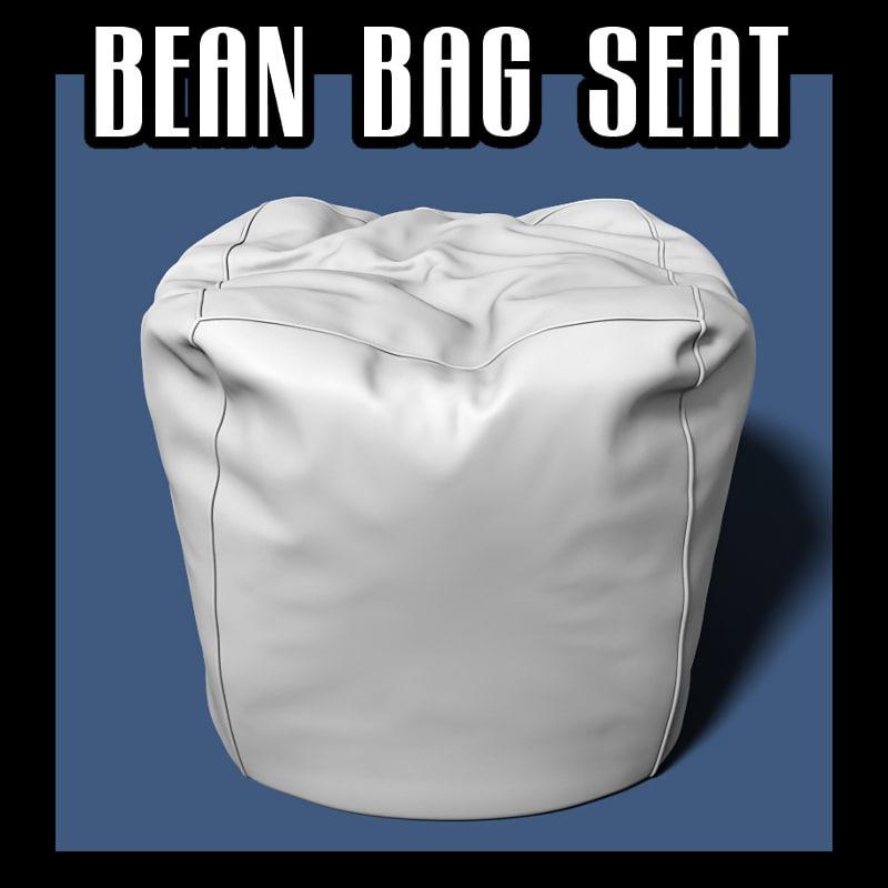 3d bean bag seat